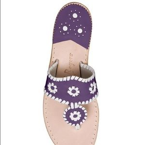 Rare purple and white suede Jack Rogers sandals